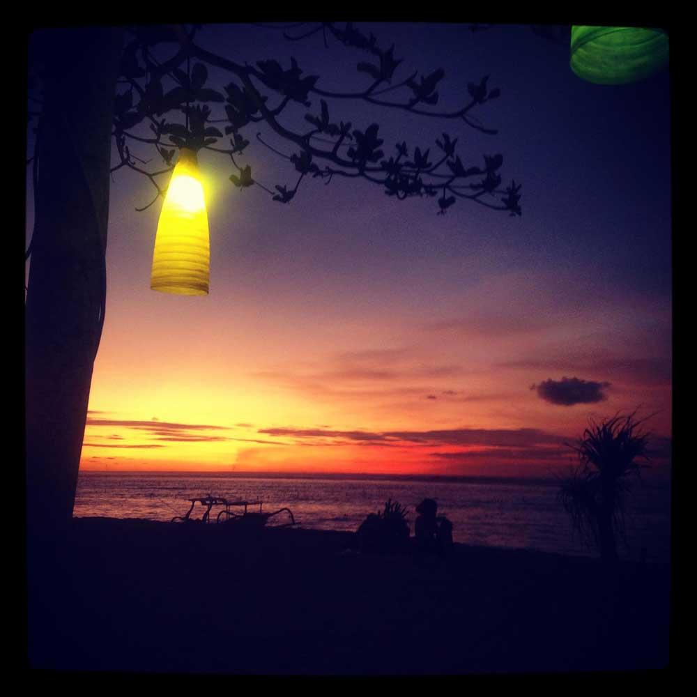 Yoga at sunset on Lembongan